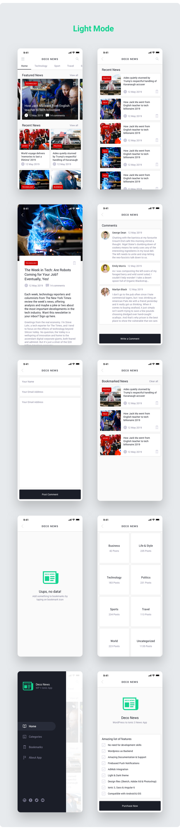 flutter deco news full app